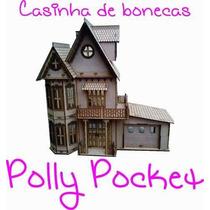 Kit Casinha De Bonecas Polly Pocket + 34 Moveis Frete Grátis