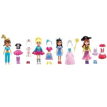 Conjunto De 4 Bonecas - Polly Pocket Festa A Fantasia - Fan