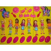 Novas 08 Bonecas Polly E 20 Acessorios Disney Barbie Monica