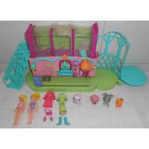 Polly Pocket Lote Bonecas Cabeleireiro Sparkling Pets Mattel