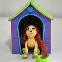 Cachorro Boneca Polly Pocket E Casinha