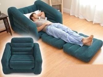 Poltrona sof cama colch o infl vel intex aveludado 2 em 1 for Sofa cama 99 euros
