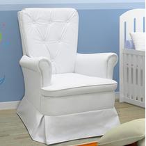Poltrona Fixa Para Amamentação Velentina Corino Branco Bebê