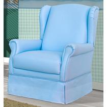 Poltrona Amamentação Sonhare Fixa Quarto Bebê Infantil Azul