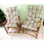 Jogo De 2 Cadeiras De Bambu Para Ambiente Interno Ou Externo