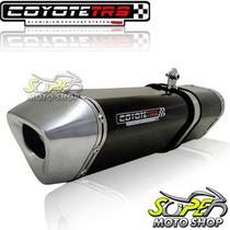 Escape Ponteira Coyote Trs Tri-oval Cg 150 Sport ..08 Preto