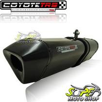 Escape Ponteira Coyote Trs Tri-oval Gsr 750 Preto Blk Suzuki