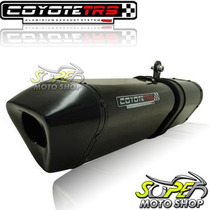 Escape Ponteira Coyote Trs Tri-oval Cb 500 97/05 Preto Black