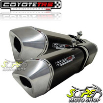 Escape Ponteira Coyote Trs 300mm Par Srad 1000 08/09 Preto