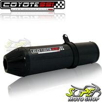 Escape Ponteira Coyote Ss1 Alum Cb 300 R Oval Preto Black Ho