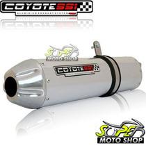 Escape Ponteira Coyote Ss1 Alum Xre 300 Redondo Polido Honda