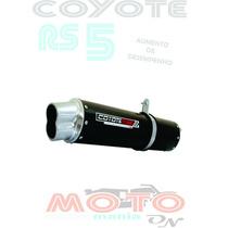 Escape Ponteira Coyote Rs5 Boca 8 Xre 300 10... Preto Honda