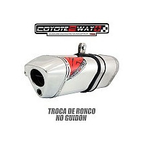 Escapamento Esportivo Ponteira Xre300 Coyote Two Way+polido