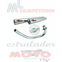 Escapamento Estralador Ml Competition Cg150 Fan Ks 09-13