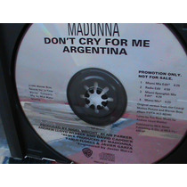 Cd Madonna - Single Promocional Don´t Cry For Me Argentina