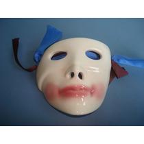Mascara Em Porcelana Para Decoração De Parede