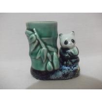 B. Antigo - Urso Panda Porta Caneta Em Porcelana Chinesa