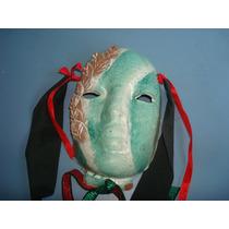 Antiga Mascara Em Ceramica Para Decoração De Parede