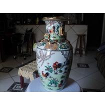 Vaso Porcelana Chinesa Em Ouro Antigo Para Colecionador (e)