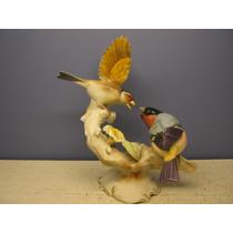 Grupo De Pássaros Porcelana Hutschenreuther, K. Tutter, 22cm
