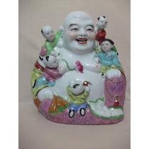 B. Antigo - Buda Da Felicidade E Da Boa Sorte Em Porcelana
