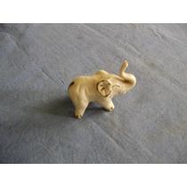 Antigo Bibelo De Porcelana Elefante Belissima Peça