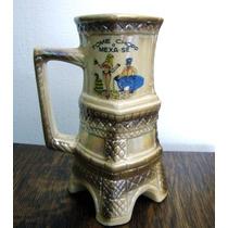 Antigo Caneco De Chop Decorativo Porcelana #2391