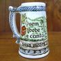 Porcelana Mini Caneca Rio Negrinho.