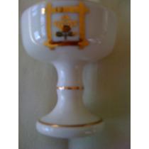 Taça Para Saquê De Porcelana Bordada A Ouro 20 Ml