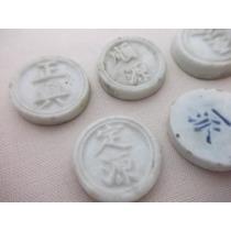 B. Antigo - Lote De 5 Moedas Chinesas Em Porcelana Assinadas