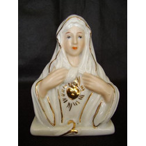 Baixou !!! Sagrado Coração De Maria Porcelana Arte Sacra