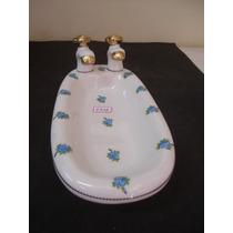 #5958# Saboneteira Banheira De Porcelana Dd, Floral!!!
