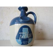 Garrafa Antiga De Wodka Polska Em Porcelana