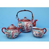 Trio De Peças Conjunto De Chá Porcelana Chinesa