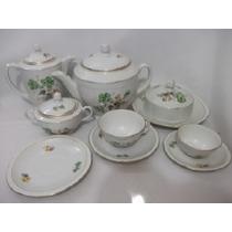 B.antigo - Jogo De Chá E Café Em Porcelana Polonesa 34 Peças