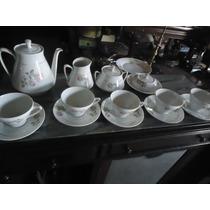 Jogo De Chá Antigo De Porcelana Schmidt (bule, Xícaras...)