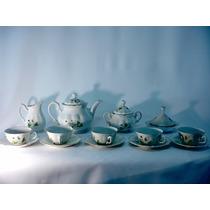 Antigo Jogo De Chá Café Em Porcelana Real Raro Década De 50
