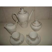 Lindo E Antigo Jogo P/ Café C/ 2 Xícaras - Porcelana Real