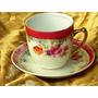Belíssima Xícara Chá Porcelana Mauá Rosas/dec.ouro18k,déc.60