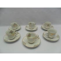 Jogo De Xícaras Para Café. Flores. Porcelana Real