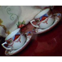 Anos50 Raro Par De Xicaras Porcelana Japonesa Casca De Ovo