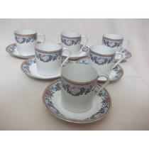 B.antigo - Conjunto De 6 Xícaras Porcelana Francesa