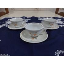 Xícaras De Chá Com Pires Porcelana Pozzani
