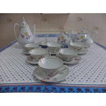 Jogo De Chá Em Porcelana Real