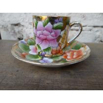 Conjunto Pires E Xícara Cafezinho Floral Chinês