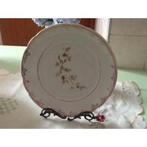 Raridade Belíssimo Prato Trabalhado Da Porcelana Real