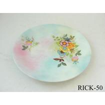 Prato Decorativo Porcelana Steatita C/ Flores E.gratis