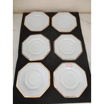 #9833# Jogo De 6 Pratinhos Porcelana Schmidt Coroa!!!