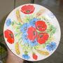 Prato Decorativo Pintado À Mão - Porcelana Oxford - Anos 50
