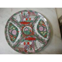 #669# Prato Parede Porcelana Familia Rosa Especial!!!